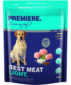 PREMIERE kutya száraz eledel light csirke 1kg