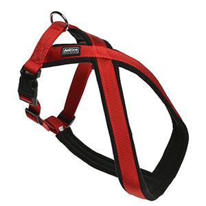 AniOne X-hám Classic nejlon piros L/65cm
