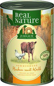 Real Nature konzerv kutyáknak LE csirke&borjú 400g