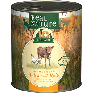 Real Nature konzerv kutyáknak LE csirke&borjú 800g