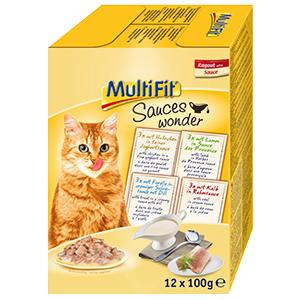 MultiFit cica tasakos eledel MultiPack 12x100g Sauce wonder