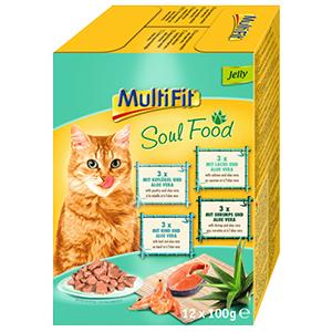 MultiFit cica tasakos eledel MultiPack 12x100g Soul Food