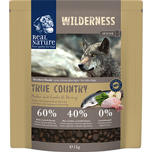Real Nature Wilderness kutya szárazeledel senior csirke, lazac, hering 1kg