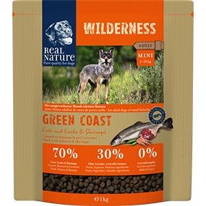 Real Nature Wilderness kutya szárazeledel mini kacsa, lazac, garnéla 1kg