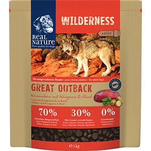 Real Nature Wilderness kutya szárazeledel nyúl, kenguru, marha 1kg