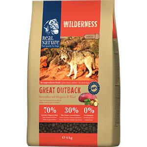 Real Nature Wilderness kutya szárazeledel nyúl, kenguru, marha 4kg