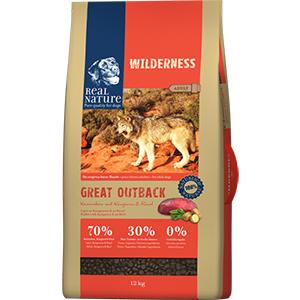 Real Nature Wilderness kutya szárazeledel nyúl, kenguru, marha 12kg