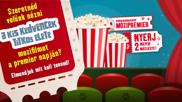 Nyerjen páros jegyet a Fressnapf Mozipremierrel!