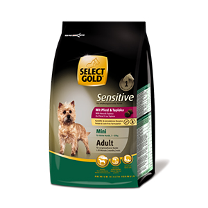 Select Gold Mini Sensitive adult ló&tápióka 1kg
