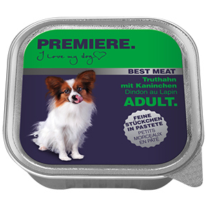 PREMIERE Best Meat adult pulyka&nyúl 100g