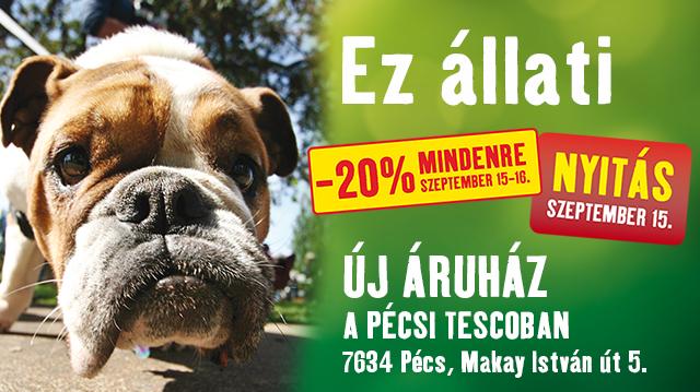 Duplázunk Pécsen: új Fressnapf-üzlet nyílik a TESCO-hipermarketben!
