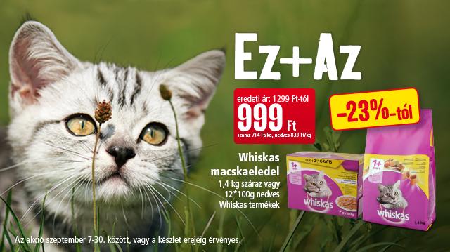Whiskas: a cicák választása