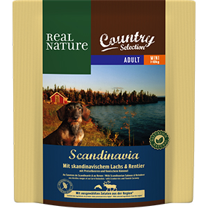 Real Nature Country Scand mini adult lazac&rénszarvas 1kg