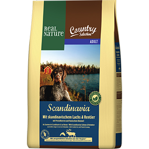 Real Nature Country Scand adult lazac&rénszarvas 4kg