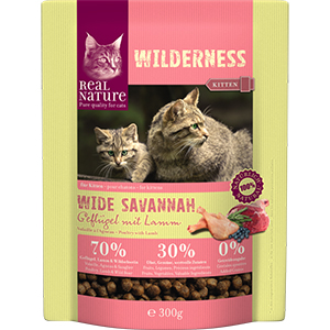 Real Nature Wilderness kitten szárnyas&bárány 300g