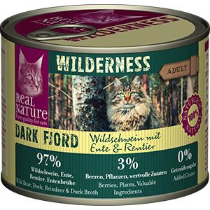 Real Nature Wilderness konzerv adult rénszarvas&vaddisznó 200g