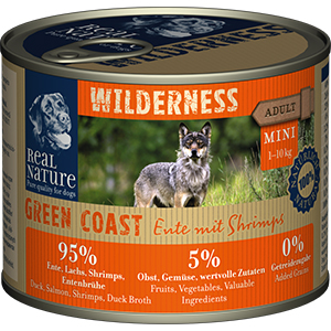 Real Nature Wilderness konzerv mini adult kacsa&lazac 200g