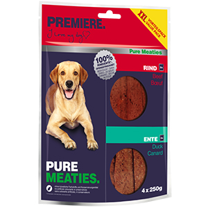 PREMIERE 4x250g Pure Meaties kacsa