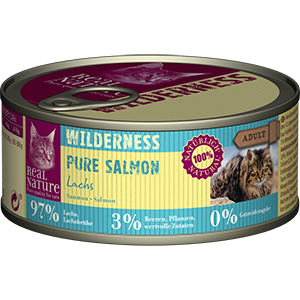 Real Nature Wilderness konzerv adult lazac 95g