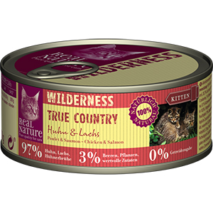 Real Nature Wilderness konzerv kitten csirke&lazac 100g