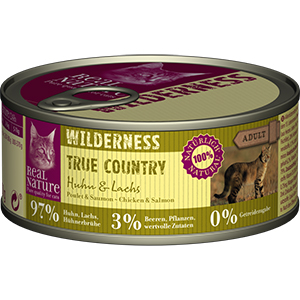 Real Nature Wilderness konzerv adult csirke&lazac 100g