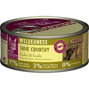 Real Nature Wilderness konzerv adult csirke&lazac 100g