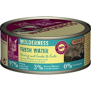 Real Nature Wilderness konzerv adult hering&lazac 100g