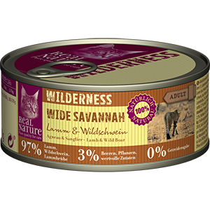 Real Nature Wilderness konzerv adult bárány&vaddisznó 100g