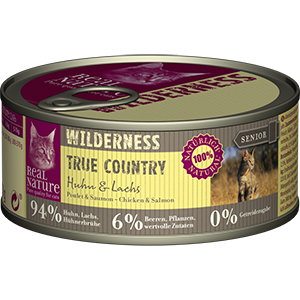 Real Nature Wilderness konzerv senior csirke&lazac 100g
