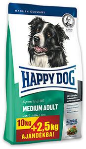 Akár 3 kg AJÁNDÉK – Happy Dog Supreme száraz kutyaeledel 8/10/12 kg (8-féle)