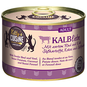 KITTY'S Cuisine konzerv adult borjú 200g