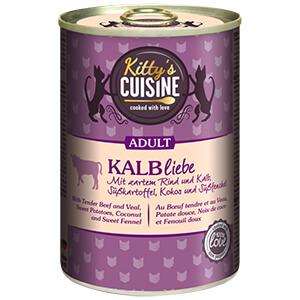 KITTY'S Cuisine konzerv adult borjú 400g
