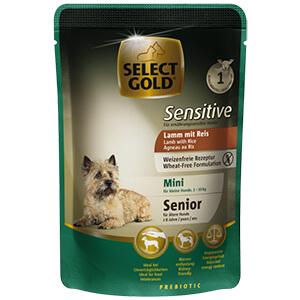 Select Gold Sensitive tasak senior mini bárány&rizs 100g