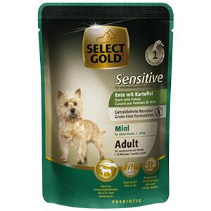 Select Gold Sensitive tasak adult mini kacsa&burgonya 100g