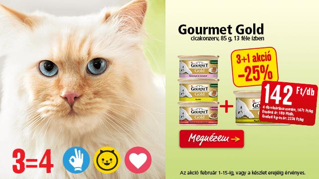 3=4! Gourmet Gold akció a Fressnapfban!