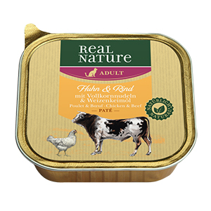Real Nature Paté tálka adult csirke&marha 100g