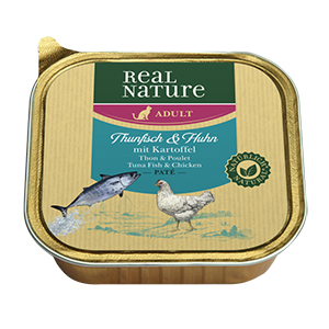 Real Nature Paté tálka adult tonhal&csirke 100g
