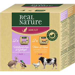 Real Nature Paté tálka adult Multipack 4x100g