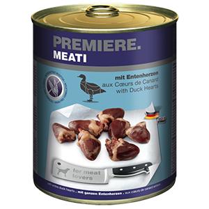 Premiere Meati konzerv adult kacsaszív 800g