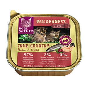 Real Nature Wilderness tálka kitten true country 100g