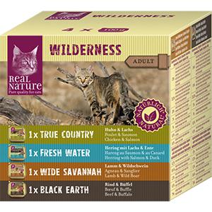 Real Nature Wilderness tálka adult Multipack 4x100g