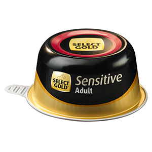 Select Gold Sensitive tálka adult marha&rizs 125g