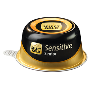 Select Gold Sensitive tálka senior csirke&rizs 125g