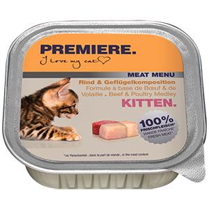 Premiere Meat Menü tálka kitten marha&szárnyas 100g