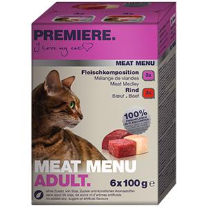 Premiere Meat Menü tálka adult Multipack 6x100g