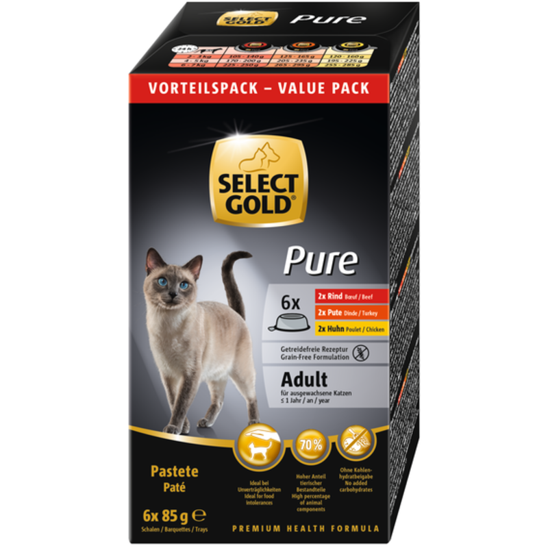 Select Gold Sure tálka adult Multipack 6x85g