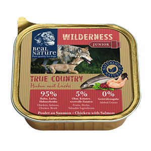 Real Nature Wilderness tálka junior csirke&lazac 100g