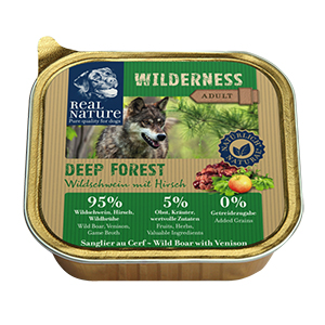 Real Nature Wilderness tálka adult vaddisznó&szarvas 100g