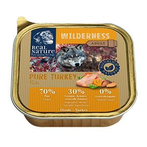 Real Nature Wilderness tálka adult pulyka 100g