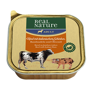 Real Nature tálka adult marha&sonka 100g